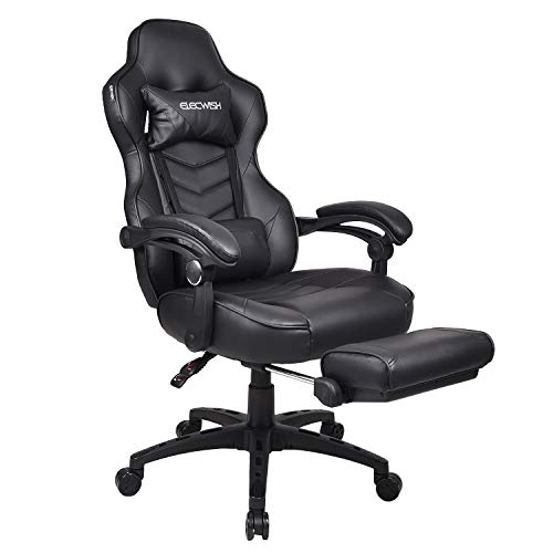 (Video Gaming Chairs High-Back PU Leather Office Chair Computer Desk Chair Executive and Ergonomic Style Swivel Chair for Adults)