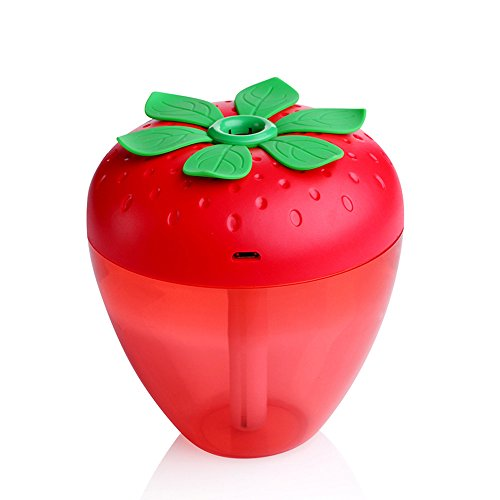DEESEE(TM) Strawberry Home Aroma LED Humidifier Air Diffuser Purifier Atomizer (Red)