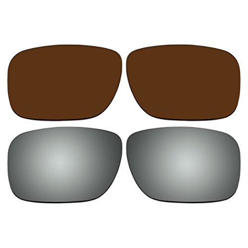 Replacement Polarized Bronze Brown and Titanium Lenses for Oakley Holbrook - Holbrook Bronze Polarized