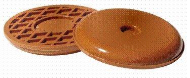 Waxman Consumer Group 4700495N 2-1/4'' Beige Round Self-Stick SuperSliders 4 Count