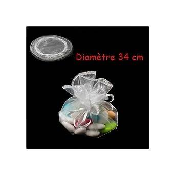 100 bolsas de organza redonda-3631 blanca: Amazon.es: Ropa y ...