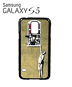 Banksy Naked Man Husband and Wife Cell Phone Case Samsung Galaxy S5 White