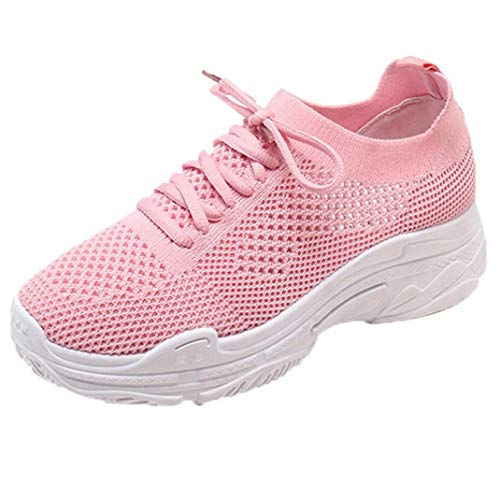 UOKNICE Clearance Fashion Women Shoes Casual Shoes Outdoor Walking Gym Running Shoes Student Sneaker Sports Shoes(Pink, CN 40(US 7.5))