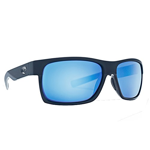 Costa Del Mar HFM155OBMGLP Half Moon Sunglass, Sh Black/Mt Black Ocearch Blue - Who Makes The Sunglasses Best Polarized