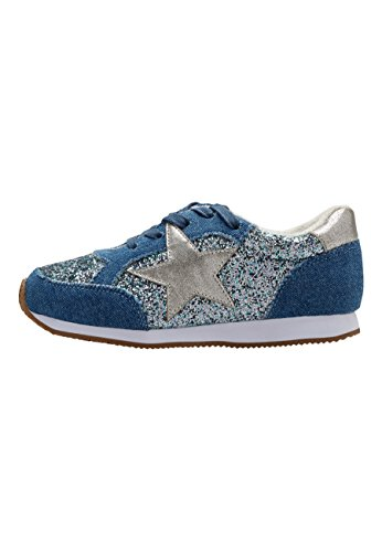 next Niñas Zapatillas con Estrellas De Purpurina (Niña Mayor) Azul