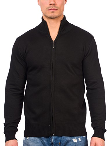 g Sleeve Soft Casual Full Front Zip Cardigan Sweater (Black, X-Large) (Zip Front Sweater Vest)
