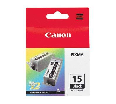 Ip90 Pixma Canon (BCI-15 Black ink tank, 2-pack blister, for i70, 80 PIXMA iP90, iP90v)