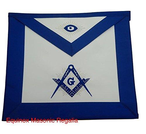 Blue Lodge Royal Blue Satin With Silver Bullion Master Mason Apron by Equinox