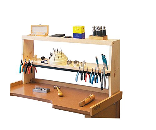 35'' x 7-1/4'' x 17'' Bench Shelf Jewelry Making Tools ShelfMate Workbench Storage Organizer by PMC Supplies LLC