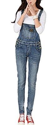 Skirt BL Women Fashion Plus Size Skinny Blue Strecthy Jeans Romper Denim Overall