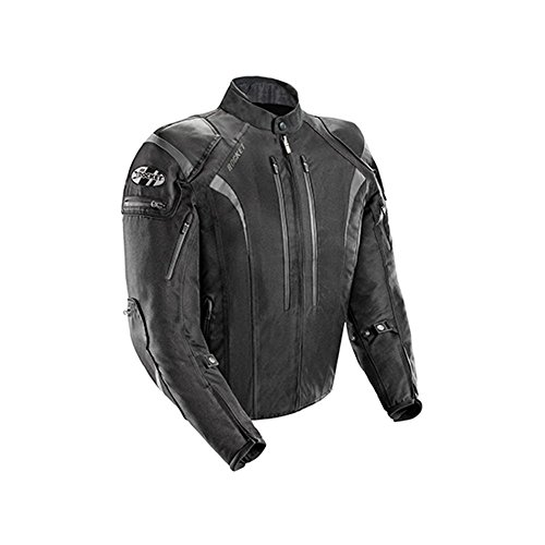 Armored Sleeve Well - Joe Rocket Atomic Men's 5.0 Textile Motorcycle Jacket (Black, X-Large)