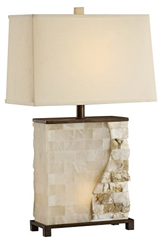 Stacked Stone Table Lamp - Marble Buffet Lamp