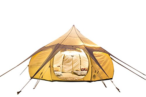 Original Lotus Belle 16ft Hybrid Deluxe Tent Made of 360gsm Canvas Material, Ethically Made Heavy Duty Cotton Canvas Built to Last Suitable For All Climates Review