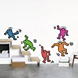 Five Dancing Figures Wall Decal by Keith Haring, 20x28