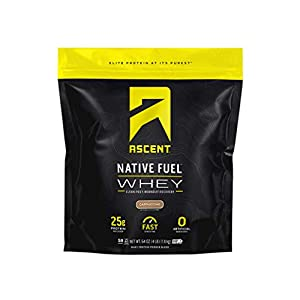 Ascent Native Fuel Whey Protein Powder – Cappuccino – 4 lbs