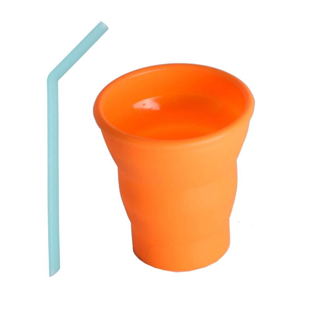 DAZISEN Taza de Plegable Taza Port/átil de Silicona de Viaje Deportes Al Aire Libre el Color de Caramelo de la Taza