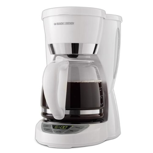 Black & Decker CM1050W 12-Cup Programmable Coffeemaker, White