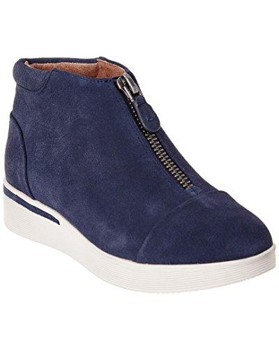 Gentle Souls Womens Hazel-Fay Platform Midtop Front Zip Sneaker Navy iVbmkS8