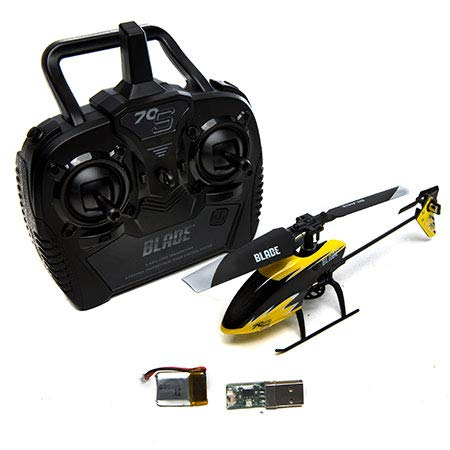 Blade 70 S RTF RC Micro Helicopter with Safe Technology | 2.4Ghz Transmitter | Battery | Charger (Yellow/Black) (Best Fixed Pitch Rc Helicopter)