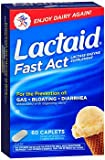Lactaid Fast Act Lactase Enzyme Supplement - 60 Caplets, Pack of 6