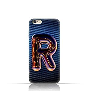 Apple iPhone 7 TPU Silicone Case with Chrome Night Letter R Design