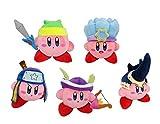 Little Buddy Set of 5 Kirby's Adventure All Star Kirby Stuffed Plushes - 1626 Sword / 1627 Ice / 1628 Ninja / 1629 Sniper / 1630 Beetle, 6''