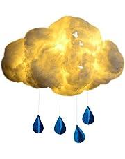 LLJM LED chmury lampa sufitowa dla dzieci DIY ciepłe białe chmury lampa nocna lampka, chmura kreatywna ręczna robota, nowoczesne białe lampy sufitowe kinkiet do pokoju dziecięcego