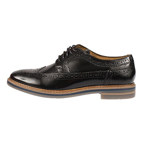 Base London zapato Hombre Cordones Cuero Hi Shine Black Black