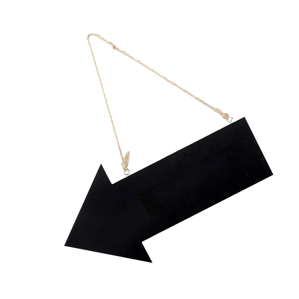 SUPVOX Se/ñales direccionales Flecha de madera con forma de placa colgante para la cafeter/ía Ceremonia de boda Recepci/ón Decoraci/ón 3 unids