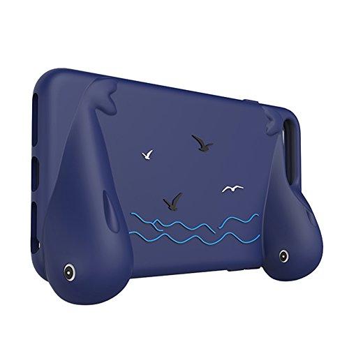 Owoda RC Drone controllore Supporto per grip i phone Silicone morbido Caso con Impugnatura per DJI Spark Flight per iPhone 6 Plus / 6s plus / 7 plus (Blu)