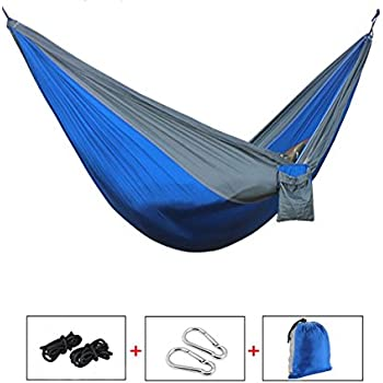 Medium image of yingee camping hammock light nylon cloth parachute multifunctional light double outdoor camping hammock sleeping bag camping camping beach pier