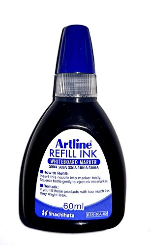 Artline Refill Ink (ESK-50A, BLUE) for Artline 5109A Big Nib Markers, Plus 500A, 509A, 550A, and 5100A Whiteboard Markers