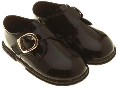 Chaussures bébé garçon Noir Patent–Taille 6(30/36Mois)