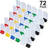 Blulu 36 Pieces Game Card Stands Multi-Color with 36 Pieces Blank Board Game Board Markers for Party Favor