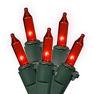 100 Count Red Led Christmas Lights - 1