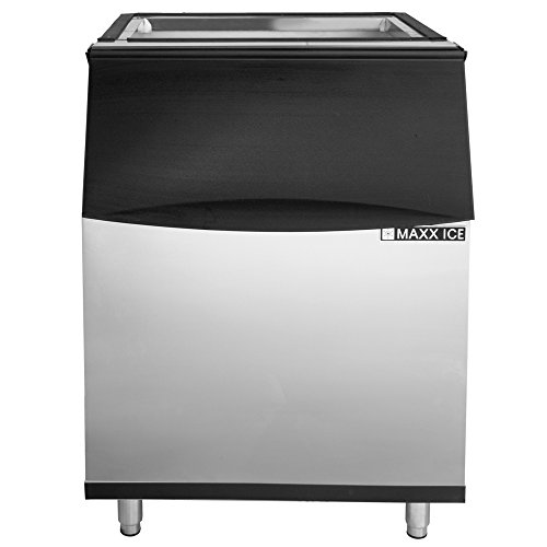 Maxx Ice MIB430N 30'' Ice Storage Bin with LED - 430lb Storage Capacity - For Use with NEW GENERATION Maxx Ice 30'' Modular Ice Makers MIM370N, MIM500N, MIM650N, MIM1000N by Maxx Ice
