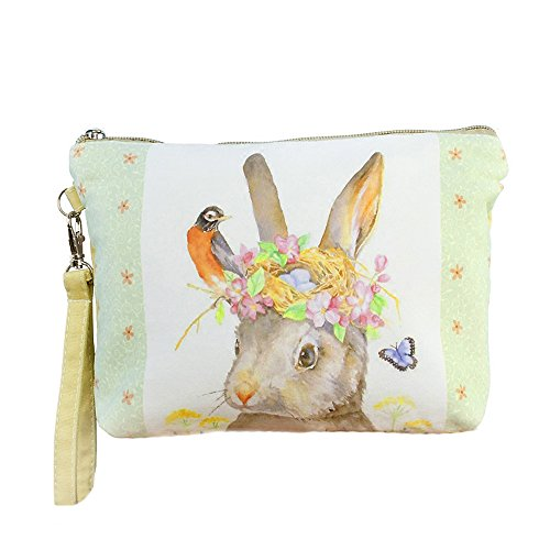 as Coin Purses Clutch Makeup Bags Wallet Cellphone Pouches with Wristlet Valentine's Day Gift,Cartoon Bunny (Tissue Bunny)