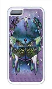 iPhone 5C Case,Dragonfly Dreamcatcher TPU Rubber Soft Case Back Cover for iPhone 5C White