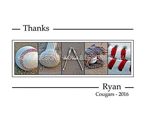 Baseball Coach's gift - 8x10 Coach's gift - Alphabet Photography - Coach's gift