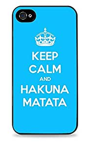 Keep Calm And Hakuna Matata Black Designer Protective Case Cover for Apple iPhone 5 / 5S