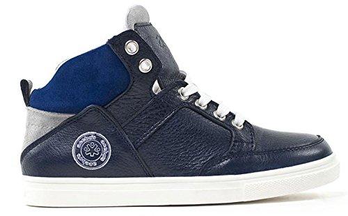 Acebo's Spain Leder High Top Sneaker Reißverschluss blau