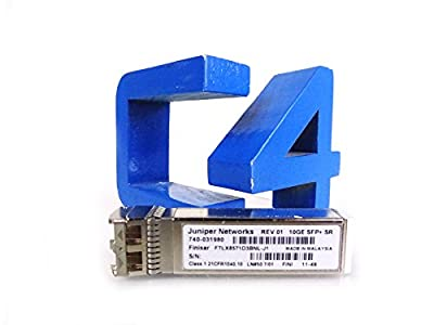 JUNIPER 740-031980 Juniper SFPP-10GE-SR COUIA4YBAA 740-031980 10GBASE-SX SFP+ 850nm Juniper Networks 10GE SFP+SR Ethernet Multimode LC Transceiver Module