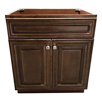 New Maple Walnut Single Bathroom Vanity Base Cabinet 24 W x 21 D x 34.5 H