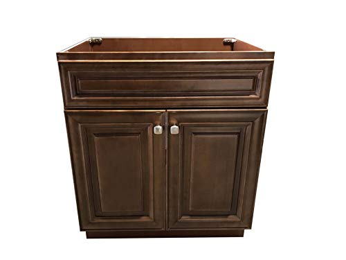 New Maple Walnut Single Bathroom Vanity Base Cabinet 24