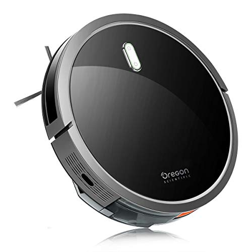 Oregon Scientific Robot Vacuum Cleaner with S-Shaped Smart Movement, 1400Pa Max Power Suction, Automatic Self-Charge Robotic Vacuums, Ideal for Pet Hair, Hard Wood Floors Medium Carpets