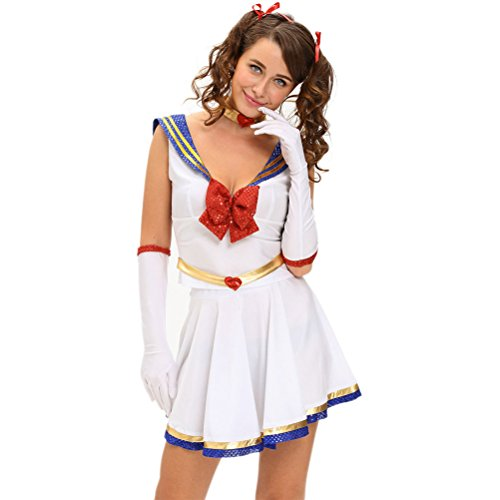 [YeeATZ Women's 5pcs Anime Sailor Heroine Costume(Size,L)] (Male Costumes Rocky Horror)
