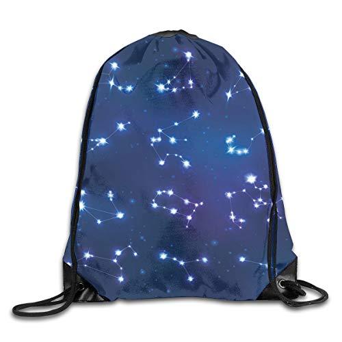 Unisex Drawstring Bag Gym Bags Storage Backpack,Realistic