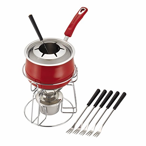 - Rachael Ray Classic Brights Stainless Steel Fondue Set, Red
