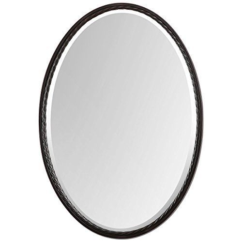 Uttermost 01116 Casalina Oil Rubbed Oval Mirror, Bronze by Uttermost by Uttermost