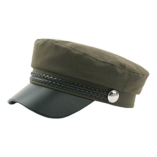 Funbase Adult Teens Military Cadet Hat Genuine Leather Army Captain Costume Cap for $<!--$14.60-->